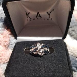 Drop dead gorgeous blue diamond ring